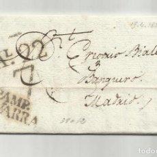 Documentos bancarios: CIRCULADA Y ESCRITA 1823 DE PAMPLONA NAVARRA A BANQUERO MADRID. Lote 242463470