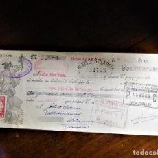 Documentos bancarios: LETRA DE CAMBIO 3-7-1934 DE D. LAURENTINO URUÑUELA, DE BAÑOS DEL RÍO TOBIA (LA RIOJA), ACEPTADO CON. Lote 243039450