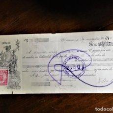 Documentos bancarios: LETRA DE CAMBIO 1-10-1934 DE D. D. FÉLIX CANO CANDEL, DE BLANCA (MURCIA), ACEPTADO SIN BANCO, A D. J. Lote 243051310