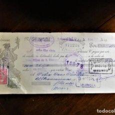 Documentos bancarios: LETRA DE CAMBIO 8-1-1935 DE D. LAURENTINO URUÑUELA, DE BAÑOS DEL RÍO TOBIA (HUELVA), ACEPTADO CON SE. Lote 243055050