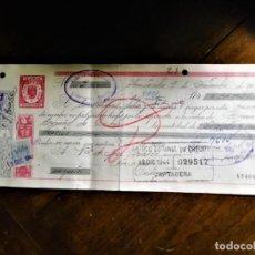 Documentos bancarios: LETRA DE CAMBIO 9-12-1944 DE D. JUAN ANTONIO PELLICER PELLICER, FABRICANTE DE LICORES DE ALCANTARILL. Lote 243069770