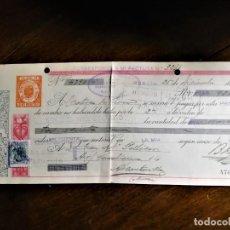 Documentos bancarios: LETRA DE CAMBIO 26-12-1944 DE B: PUJANTE GOMARIZ FABRICANTE DE (MURCIA) PARA ABONO EN CUENTA DE D.. Lote 243074135
