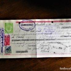Documentos bancarios: LETRA DE CAMBIO 20-4-1945 DE FABRICANTE DE LICORES D. JUAN ANTONIO PELLICER PELLICER, DE ALCANTARILL. Lote 243077150