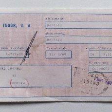 Documentos bancarios: LETRA DE CAMBIO TUDOR 1969 MURCIA CARAVACA BANESTO TIPO ENERGIZER CEGASA JUPITER LINX SKLAR TXIMIST. Lote 243085760