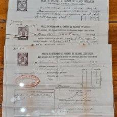 Documentos bancarios: PÓLIZA DE OPERACIÓN AL CONTADO BANCA ARNÚS 1912-1922-1928. Lote 243284735