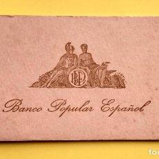 Documentos bancarios: ANTIGUO TALONARIO DE CHEQUES BANCO POPULAR ESPAÑOL- VALENCIA. Lote 244435930