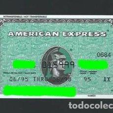 Documentos bancarios: TARJETA. AMERICAN EXPRESS. AÑO 1995. CADUCADA.. Lote 244612250