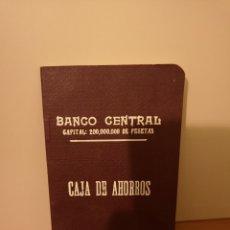 Documentos bancarios: LIBRETA BANCO CENTRAL 1929. Lote 244640295