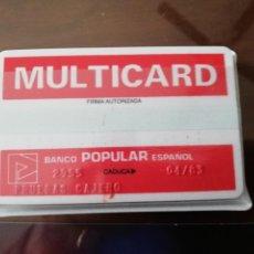 Documentos bancarios: BANCO POPULAR PIONERO EN TARJETAS (1975). Lote 244686965