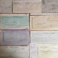 Documentos bancarios: BAN CENTRAL- CHEQUES. Lote 246135995