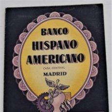 Documentos bancarios: DIPTICO PUBLICIDAD BANCO HISPANO AMERICANO AHORRO MENSUAL AL 2% DE INTERÉS. Lote 247764430
