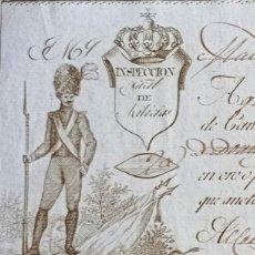 Documentos bancarios: LETRA DE CAMBIO ANTIGUA CUENCA AÑO 1818 CON CERTIF. AUTENT. LETRAS DE CAMBIO ANTIGUAS CUENCA. Lote 132714518