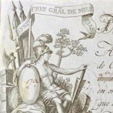 Documentos bancarios: LETRA DE CAMBIO ANTIGUA BADAJOZ AÑO 1829 CON CERTIFICADO DE AUTENTICIDAD. DOCUMENTOS ANTIGUOS. Lote 135391490