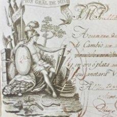 Documentos bancarios: LETRA DE CAMBIO ANTIGUA CÁDIZ AÑO 1829 CON CERTIFICADO AUTENT. DOCUMENTOS BANCARIOS ANTIGUOS. Lote 123016671