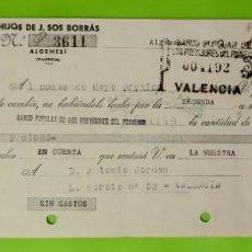 Documentos bancarios: LETRA DE CAMBIO CLASE 11A DE 100 A 200 PESETAS AÑO 1935 HIJOS DE J SOS BORRAS SELLO ESPECIAL MOVIL. Lote 253260495
