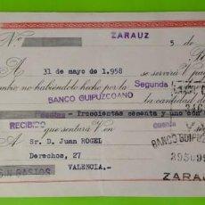 Documentos bancarios: LETRA DE CAMBIO CLASE 9A DE 350 A 500 PESETAS AÑO 1958 ENRIQUE KELLER SA, 3 SELLOS ESPECIAL MOVIL. Lote 253285090