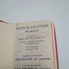 Documentos bancarios: AGENDA BANCO CENTRAL. AÑO 1965. CASI SIN USO. Lote 254060840