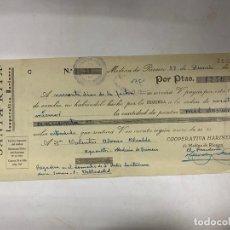 Documentos bancarios: MEDINA DE RIOSECO, 1937. LETRA DE CAMBIO. SANTA RITA. COOPERATIVA HARINERA. Lote 256139205