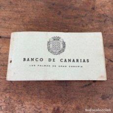 Documentos bancarios: TALONARIO DE CHEQUES DEL BANCO DE CANARIAS DEL AÑO 1967. Lote 257264560