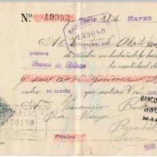 Documentos bancarios: 1928 LETRA CAMBIO PRIVADA CLASE 11 AGP ALMACENES GENERALES PAPEL TOLOSA NICOLAS PEREZ BEMBIBRE, LEON. Lote 257322615