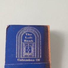 Documentos bancarios: RETRO VINTAGE CARTERITA CERILLAS THE LEFT BANK, COLUMBUS (EE.UU). Lote 257639835
