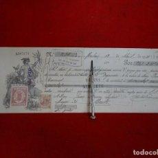 Documentos bancarios: AÑO 1921.- LETRA DE CAMBIO ALBACETE. FABRICA CALZADOS. MAHON. PALMA MALLORCA.. Lote 259221540