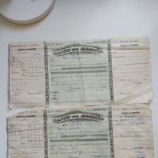 Documentos bancarios: LOTE DOCUMENTO RECIBO 5 RECIBOS DEL BANCO DE ESPAÑA BURGOS 1901 PAMPLIEGA. Lote 261522830