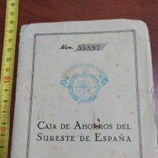 Documentos bancarios: CAJA DE AHORROS DEL SURESTE DE ESPAÑA 1958.. Lote 262368285