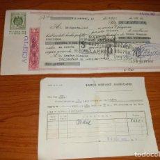 Documentos bancarios: PAGARE O LETRA DE CAMBIO PAGADO POR EL BANCO HISPANO AMERICANO CON EL JUSTIFICANTE DE 1965. Lote 264844724