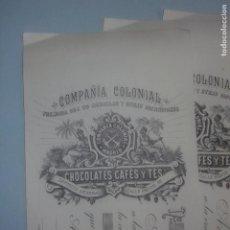 Documentos bancarios: LOTE 8 ANTIGUAS LETRAS DE CAMBIO COMPAÑÍA COLONIAL CHOCOLATES CAFÉS Y TÉS. MADRID C/MAYOR, EN BLANCO. Lote 265433929