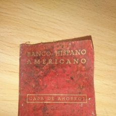 Documentos bancarios: VIEJA CARTILLA DE BANCO HISPANO AMERICANO, MADRID, AÑO 1969. Lote 265534679