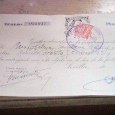 Documentos bancarios: LOTE DE 9 RECIBOS DE ABONOS A CUENTA CORRENTE DE LA CAJA DE AHORROS DE SEVILLA 1953. Lote 266565028