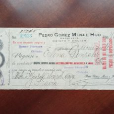 Documents bancaires: PEDRO GOMEZ MENA E HIJO. HABANA 1921. Lote 268161264