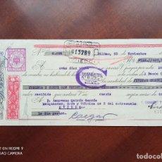 Documentos bancarios: LETRA DE CAMBIO BILBAO ASTURIAS 1950. Lote 269779743
