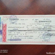 Documentos bancarios: LETRA DE CAMBIO OVIEDO 1960. Lote 269780503