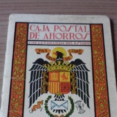 Documentos bancarios: CARTILLA ANTIGUA DE LA CAJA POSTAL DE AHORROS. Lote 270216863
