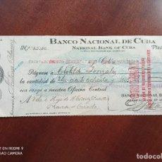 Documentos bancarios: PAGARÉ BANCO NACIONAL DE CUBA (COLÓN 1920). Lote 270963498