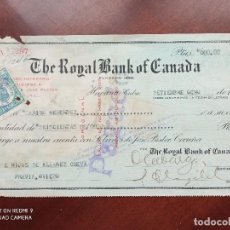 Documentos bancarios: THE ROYAL BANK OF CANADA 1923 - PAGARÉ. Lote 270966658