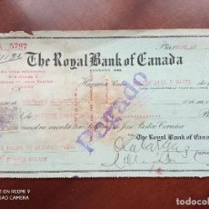 Documentos bancarios: THE ROYAL BANK OF CANADA HABANA 1923 - PAGARÉ. Lote 270967213