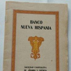 Documents bancaires: REUS. BANCO NUEVA HISPANIA. INAUGURACION SUB-CENTRAL DE REUS.1924, 32 P. IL. FOTOGRAFIAS. 19X13,5 CM. Lote 270979483