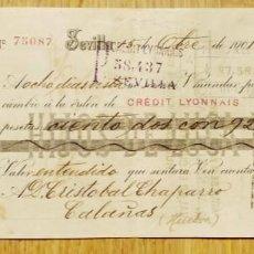 Documentos bancários: LETRA DE CAMBIO HIJOS DE LUCA DE TENA - SEVILLA 1901. Lote 274854823