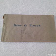 Documents bancaires: ANTIGUO LIBRETO DE CHEQUES DEL BANCO DE VIZCAYA. AÑOS 40.. Lote 275652153