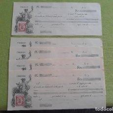 Documentos bancarios: 6 LETRAS DE CAMBIO - 1 USADA 1931 - 5 LETRAS CORRELATIVAS SIN USAR - CLASE 9 Y 12 - REPUBLICA. Lote 276022008
