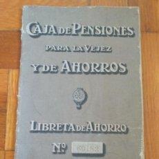 Documentos bancarios: CAJA DE PENSIONES PARA LA VEJEZ Y DE AHORROS. LIBRETA DE AHORRO. SUCURSAL BARCELONA JULIO 1919. Lote 276590703