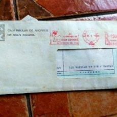 Documentos bancarios: ANTIGUO SOBRE CARTA DOCUMENTO BANCARIO CAJA DE CANARIAS 1979 - BANCO - CAJAS DE AHORRO. Lote 277064853