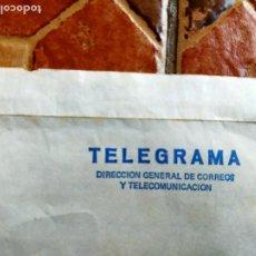 Documentos bancarios: ANTIGUA CARTA TELEGRAMA - DIRECCIÓN GENERAL CORREOS TELECOMUNICACIONES CAJA POSTAL AHORROS DOCUMENTO. Lote 277065468