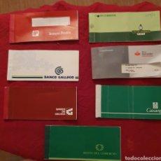 Documentos bancarios: LOTE DE TALONARIOS DE CHEQUES DE VARIAS ENTIDADES. Lote 277542363