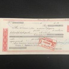 Documentos bancarios: LETRA DE CAMBIO. CLASE 13. 1961. BANCO HISPANO AMERICANO ALBACETE.- FUENSANTA. Lote 277636413