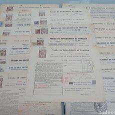 Documentos bancarios: LOTE POLIZA OPERACIONES CONTADO. AÑOS 40-50-60.. Lote 279475978