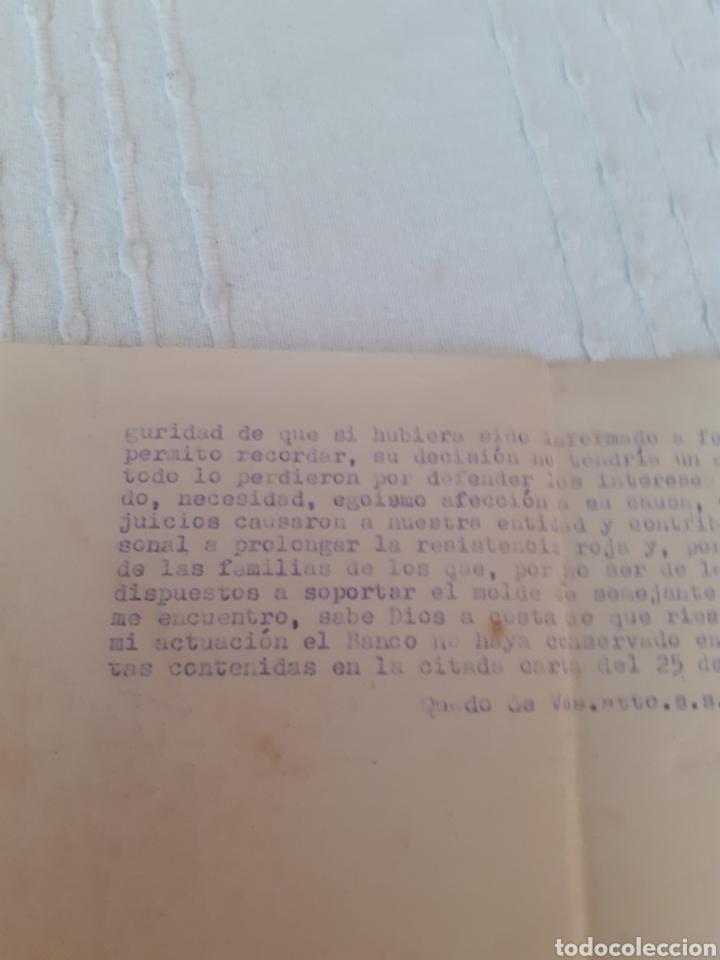 CARTA,BANCO HERREO DE MIERES .TRATA DE LOS FONDOS DESAPARECIDOS DEL BANCO EL 18 DE JULIO DE 1936 (Coleccionismo - Documentos - Documentos Bancarios)